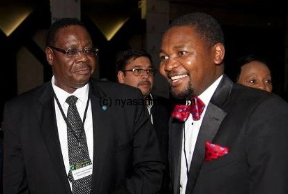President Mutharika and his communication strategist Malopa